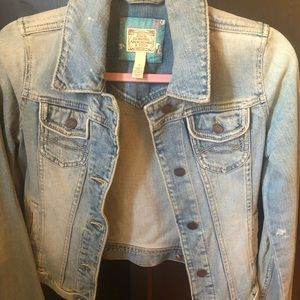 Abercrombie and Fitch washed denim jacket fitted S